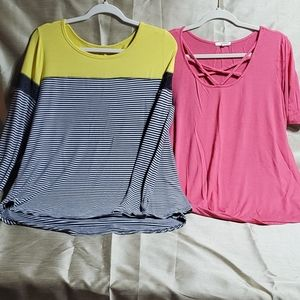 Maurices, two long blouses. Both are XL